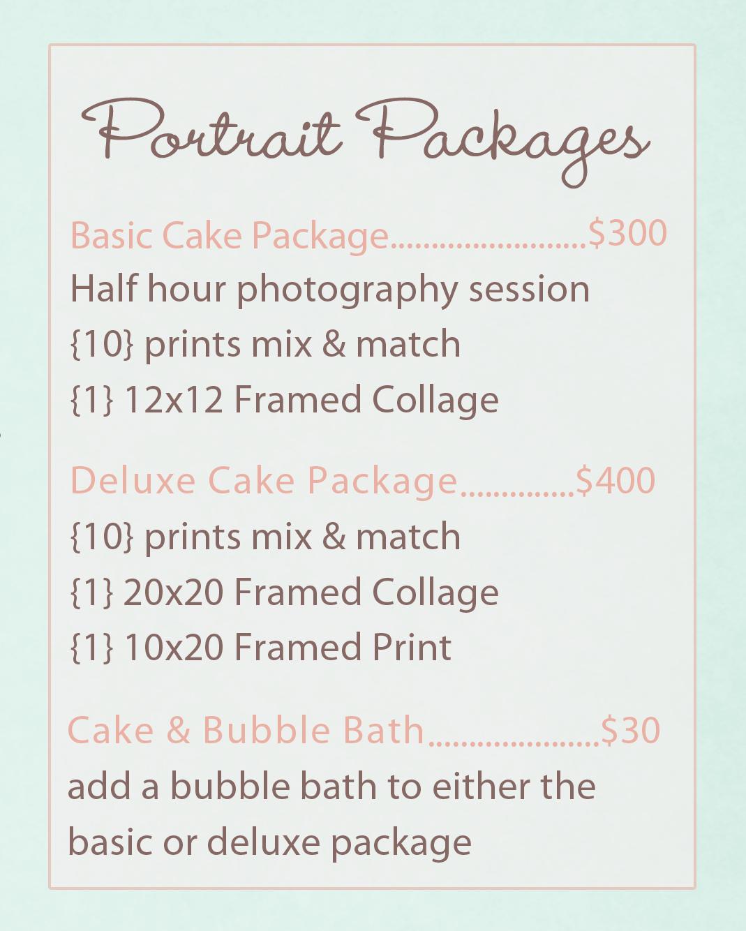 Cake Smash Package Pricing
